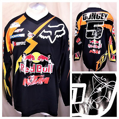 New! Fox Racing Ryan Dungey #5 Autographed (Large) Moto Cross Signed Jersey