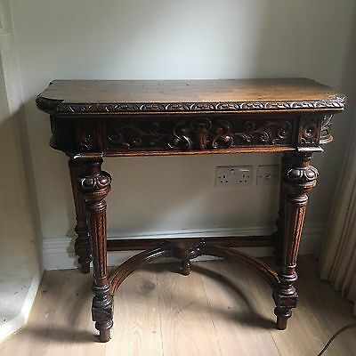 Antique Victorian Oak Tea Table