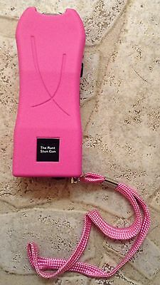 20 Million Volt LED PINK Camping Self Defense Safety Stun Gun + free tazer case