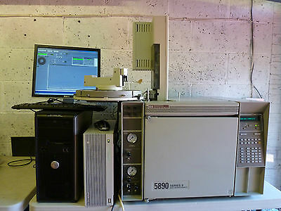 Agilent HP 5890 Gas Chromatograph with Auto-Injector & Chemstation - working