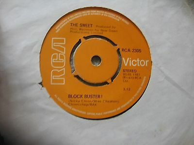 "The Sweet -  Blockbuster !  Original 7"" Vinyl Single Glam Rock"