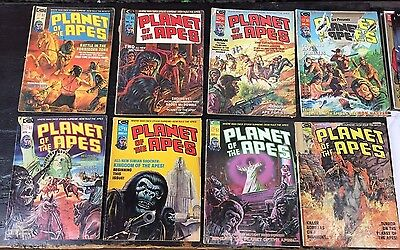 PLANET OF THE APES 8 issue lot! Including #2 (Curtis) Vintage Comic Magazine