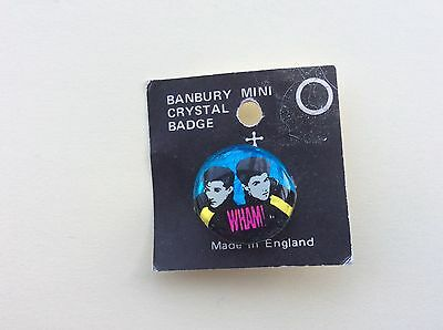 Mini Crystal Pop Badge from the 80s glitters of WHAM by Banbury badges UK
