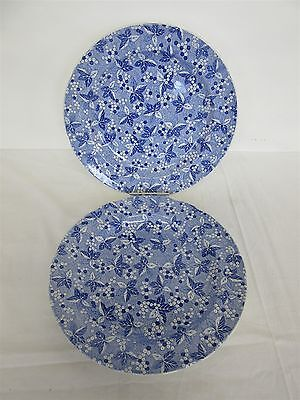 "Spode Blue Room Collection 'Valencia' pattern - Two 10.5"" dinner plates"