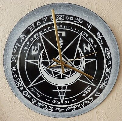 FIELDS OF NEPHILIM inspired wall clock,JESUS&MARYCHAIN.SISTERS OF MERCY.THE CULT