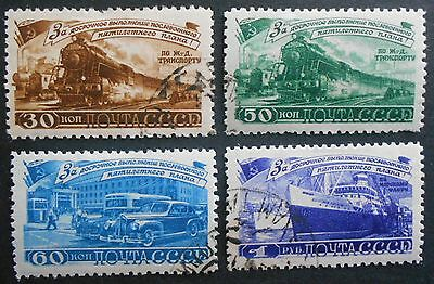 Russia USSR 1948 5 year plan - Transport, complete set, Zagor #1190-1193, used