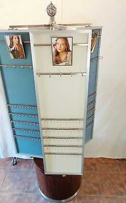 """Brighton Rotating Jewelry Display Authentic 75""""H 4 Panels 360 *Rotating PICK UP"""