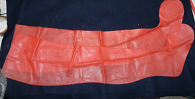 rare PINK latex rubber stockings TV maid rare colour contrasts with black wow