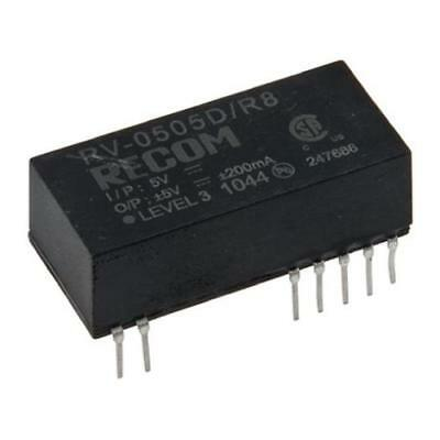 1 x Recom DC/DC Converter RV-0505D/R8, Through Hole, 5Vin,+/-5Vout 200mA, 2W
