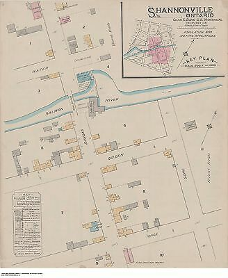 SHANNONVILLE (Hastings Co. ) ONTARIO THREE Street Maps 1881-1898 Dundas + Queen
