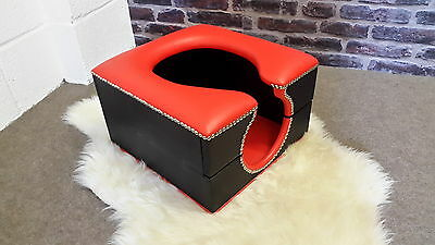 hand built standard horse shoe smother box red and black kinky,fetish,