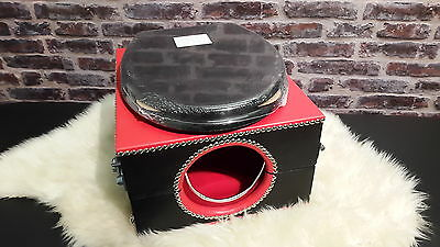 toilet smother box red and  black, with  locks and restaint points,