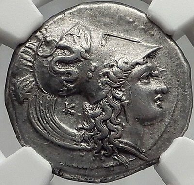 HERACLEA Herakleia in Lucania 330BC Authentic Ancient Silver Greek Coin - NGC AU