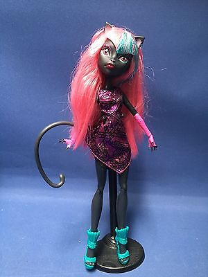 Monster High Catty Noir Doll & Display Stand