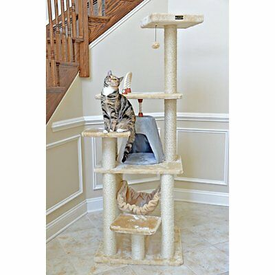 Armarkat Cat Tree Pet Furniture 65 in. Pyramid Condo Cat Scratcher Tower -