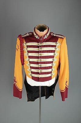 Vtg 60s Marching Band Sgt Peppers Uniform Jacket M 38 1960s Brass Buttons #2999