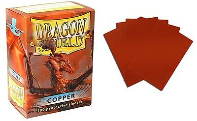 Dragon Shield - Copper 100 protective Sleeves Cases Standard Card holder