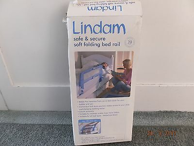 Lindam baby / toddler bed guard safety rail, blue