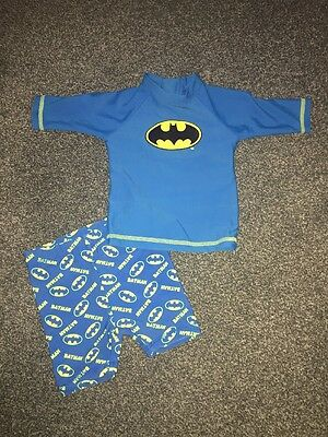 Boys 2 Piece Batman Swimsuit 6-9 Months