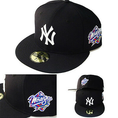 6358166d0 New Era MLB New York Yankees 5950 Fitted Hat 1999 World series Side Patch  Cap