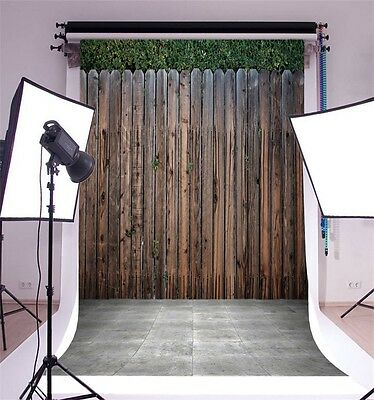 Wood Fence Vinyl 5x7ft Photo Backdrop Studio Theme Photography Background Props