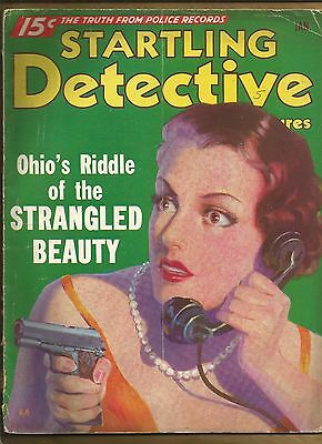 STARTLING DETECTIVE ADVENTURES Jan 1936 VINTAGE TRUE CRIME PULP