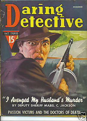 DARING DETECTIVE Dec 1937 Doctors of Death VINTAGE TRUE CRIME PULP MAGAZINE