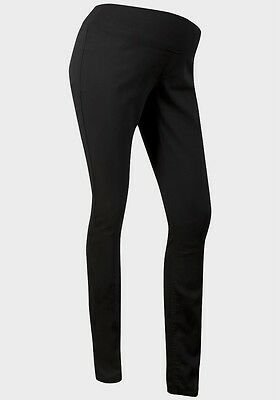 New Ex New Look Maternity Black Skinny Jeggings Size 12 -18 Under Bump Trousers