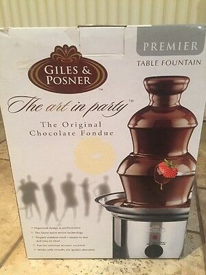 Giles & Posner Premier Table Fountain Chocolate Fondue Stainless Steel