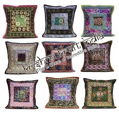 50 Traditional Embroidered Sequin USA Throw Pillow Cushion Covers Wholesale Lot