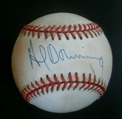 AL DOWNING Autographed Rawlings Official NL Baseball DODGERS