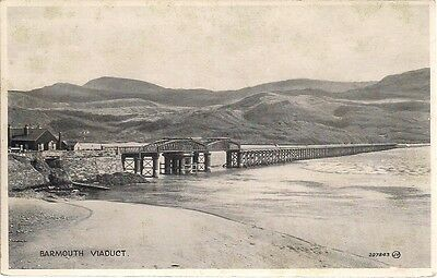 Superb Old Postcard - Barmouth Viaduct - Merionethshire - Wales 1929