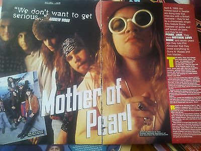 Mother Love Bone Andy Woods Pearl Jam Article From British Mag