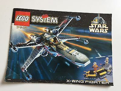 Lego 7140 X-Wing Fighter Manual only