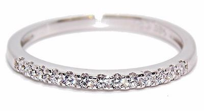 Sterling Silver Diamond 0.38ct Band Stacker Ring (925) Size 7 (N)
