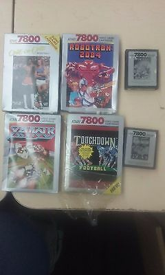 Lot of 6 Complete Atari 7800 Games - 4 CIB Complete in Box - Tested & Working!!