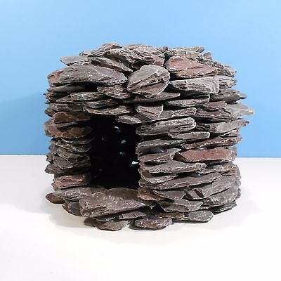 New NATURAL Slate Rock Spawning Cave Ornament for Aquarium Fish Tank.