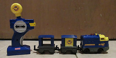 GeoTrax Blue and Yellow Stallion Pony Mustang RC Train with Remote