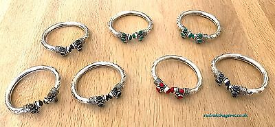 New Boho Vintage Cuff Bracelet Stone Tibetan Indian Women Bangle Jewelry Fit All