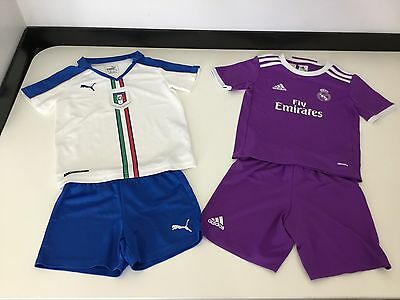 Italy & Real Madrid Boys Football Kits, Size Age 5-6 Years, Bundle, Vgc