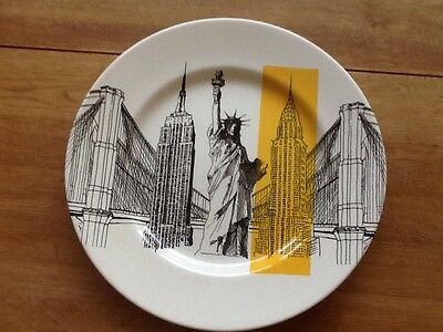Poole Pottery Cities In Sketch New York scene side plate