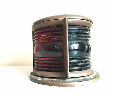 Antique Green Red Brass Vintage Nautical Ship Teardrop Boat Light steampunk Lamp
