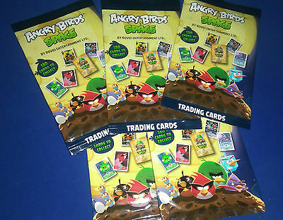 5 Packs Of Angry Birds Space Giro Max Cards