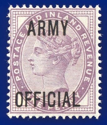 1896 SGO43 1d Lilac (16 dots) Army Official MNH Cat (MLH) £8 aeqf
