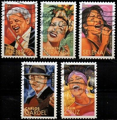 "USA - full set of 5 - "" Latin Music Legends """