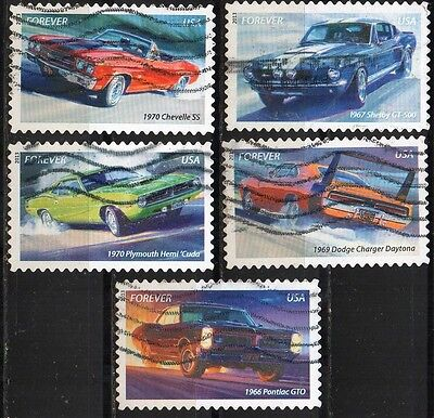 "USA - full set of 5 - "" Muscle Cars """