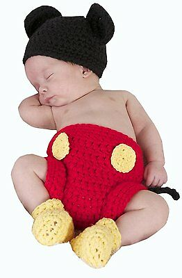 Jastore Photography Prop Baby Costume Cute Crochet Knitted Hat Cap Girl Boy