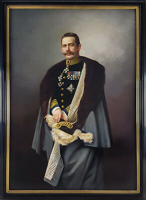 Huge 19th Century Signed Dated 1896 Portrait of an Officer Antique Oil Painting
