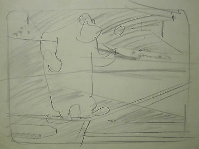 BASEBALL BUGS circa 1945 Warner Brothers VINTAGE animation storyboard drawing