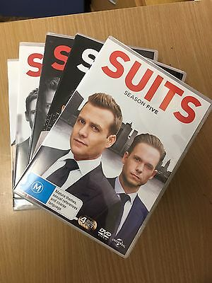 DVD SUITS Complete Seasons Series 1 2 3 4 and 5 Sets (Watched Once). 20 discs.